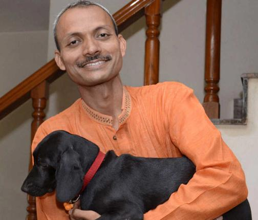 kumar with dog