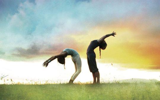 Yoga and sky