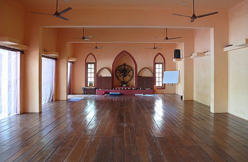 The yoga studio at Satsanga