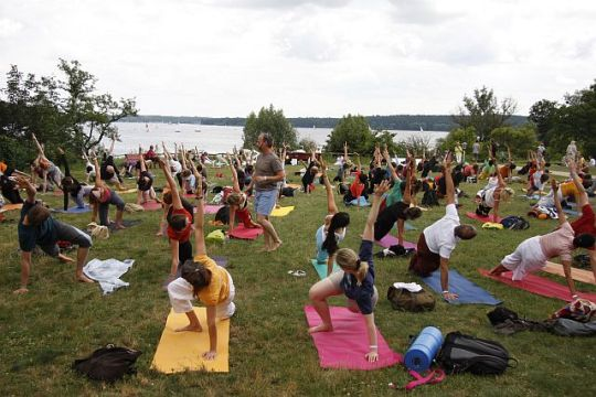 Yogastunde auf Asana I