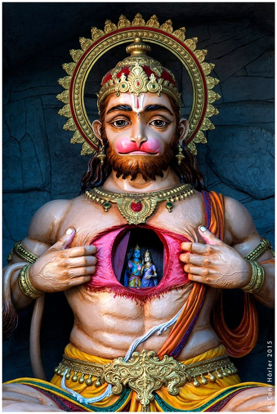 Hanuman, the Monkey God, at the gates of Parmath Niketan